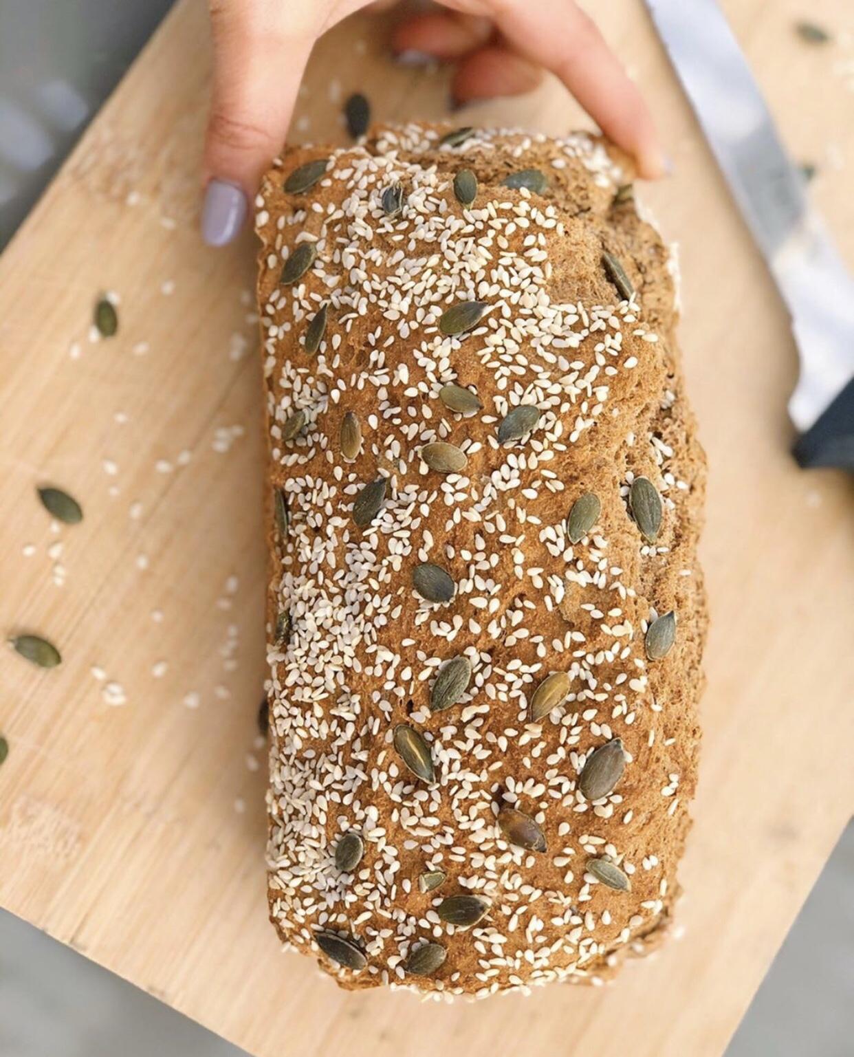 לחם בריא מכוסמין מלא מהיר להכנה