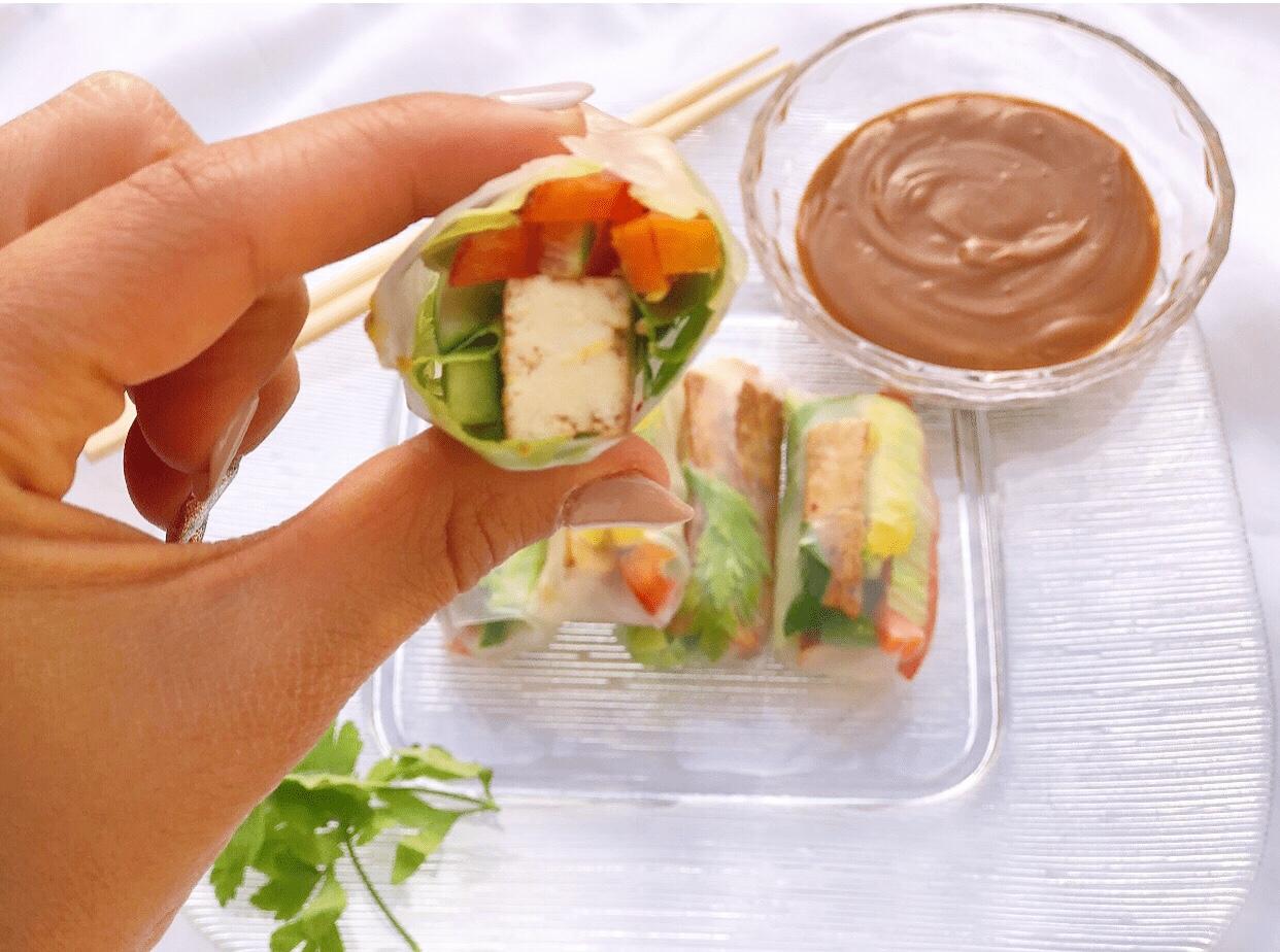 ספרינג רול במילוי ירקות וטופו
