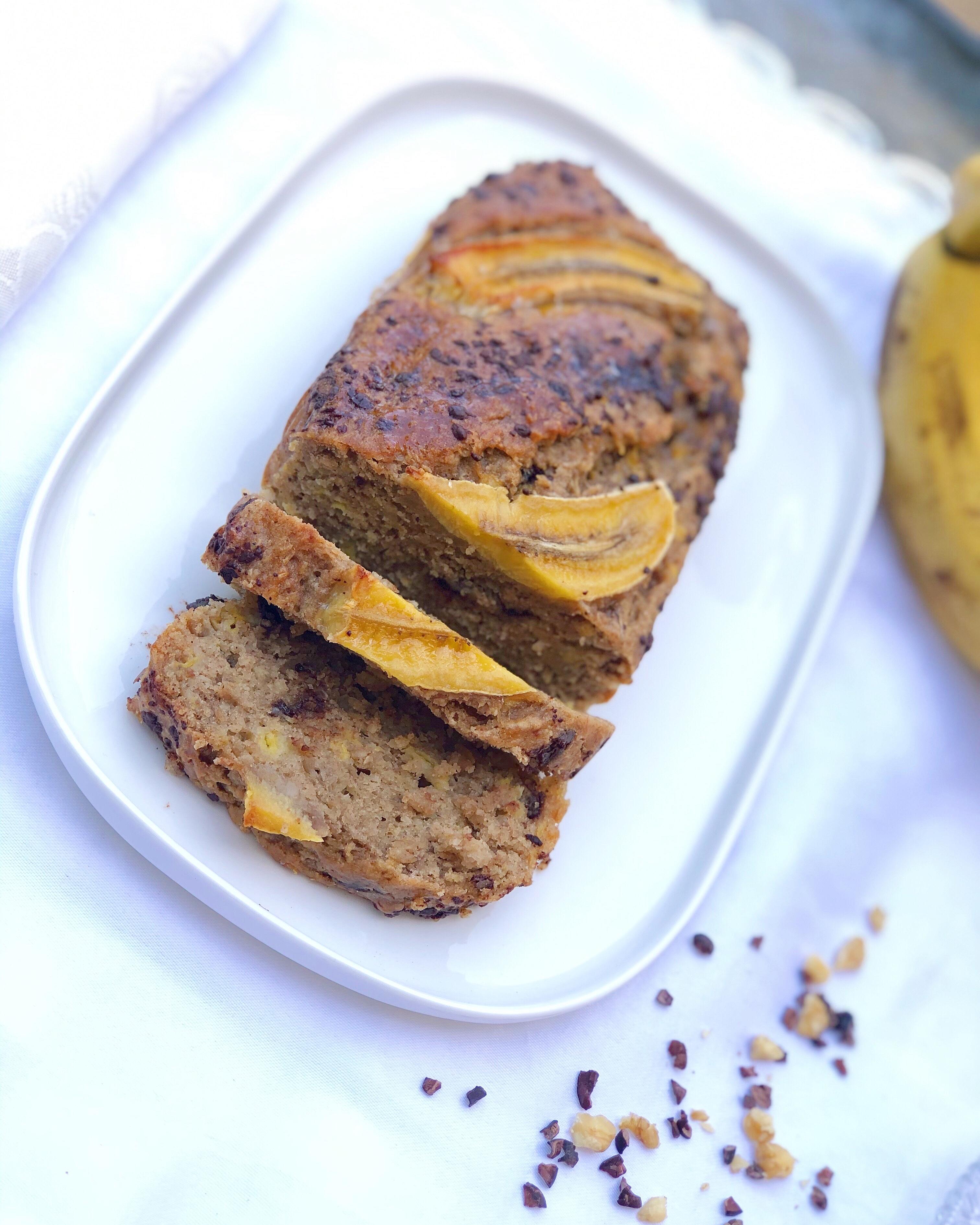 עוגת בננות טבעונית ובריאה